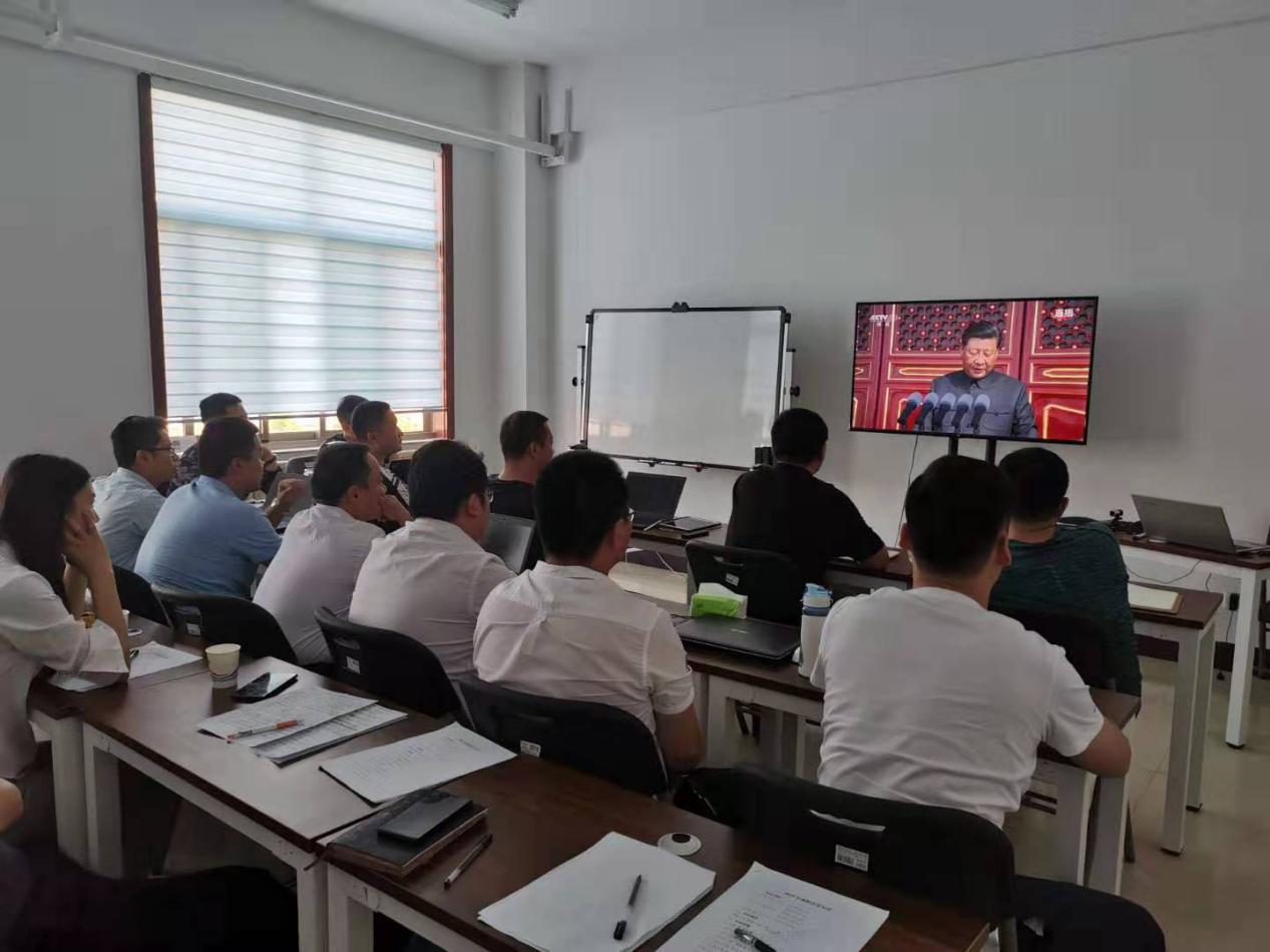 北京思路智园科技有限公司组织员工观看国庆70周年庆典